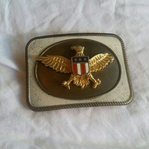 Vintage U.S. Marines eagle/flag brass belt buckle